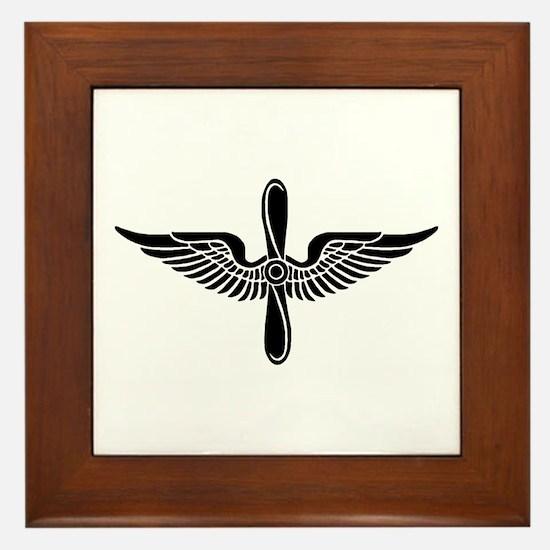 Aviation Branch (1) Framed Tile