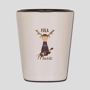 Folk Music Shot Glass