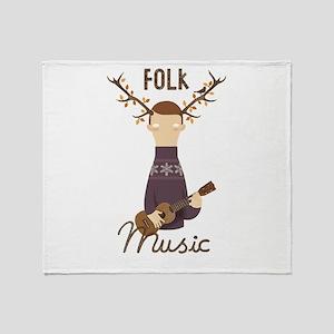 Folk Music Throw Blanket