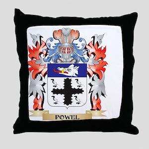Powel Coat of Arms - Family Crest Throw Pillow