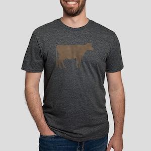 Cow: Brown Mens Tri-blend T-Shirt