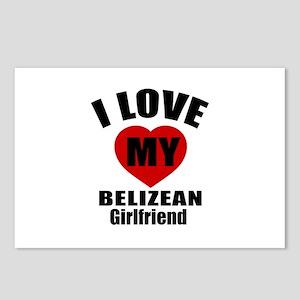 I Love My Belizean Girlfr Postcards (Package of 8)