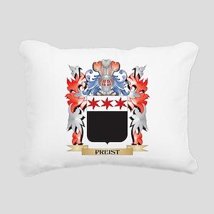 Preist Coat of Arms - Fa Rectangular Canvas Pillow