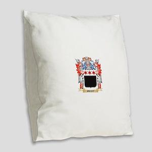 Preist Coat of Arms - Family C Burlap Throw Pillow