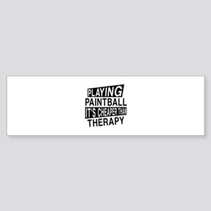 Awesome Paint Ball Player Designs Sticker (Bumper)