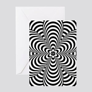 Striped Floral Greeting Cards