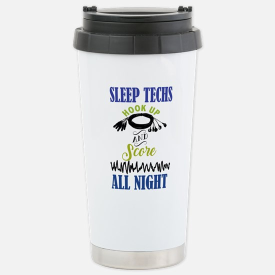 Sleep Techs Hook Up And Stainless Steel Mugs