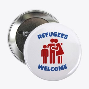 """Refugees Welcome 2.25"""" Button"""