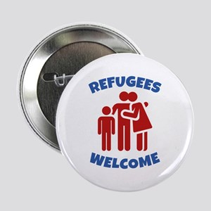 "Refugees Welcome 2.25"" Button"