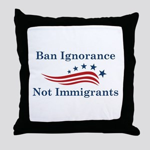 Ban Ignorance Throw Pillow