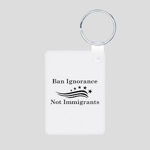 Ban Ignorance Aluminum Photo Keychain