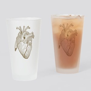 Vintage Heart Drinking Glass