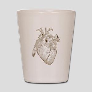 Vintage Heart Shot Glass
