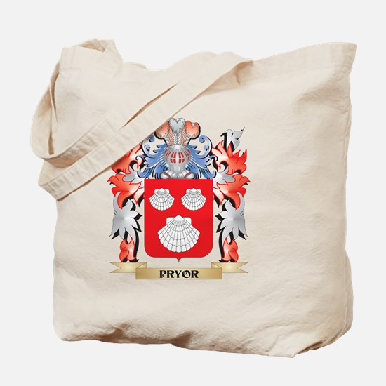 Pryor Coat of Arms - Family Crest Tote Bag