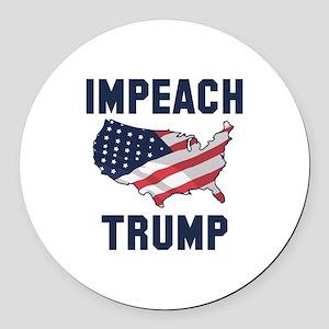 Impeach Trump Round Car Magnet
