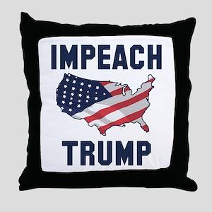 Impeach Trump Throw Pillow