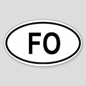Faroe Islands Oval Sticker