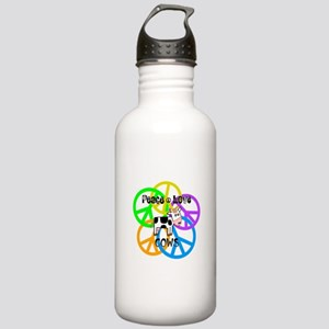 Peace Love Cows Stainless Water Bottle 1.0L