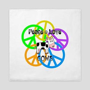 Peace Love Cows Queen Duvet