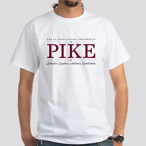 Pi Kappa Alpha Fraternity Pike White T-Shirt