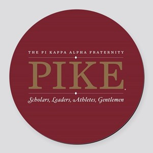 Pi Kappa Alpha Fraternity Pike Round Car Magnet