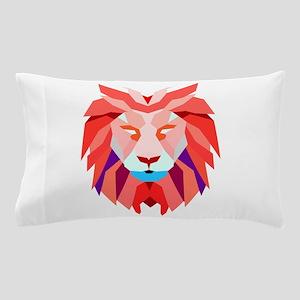 Polygonal Lion Pillow Case