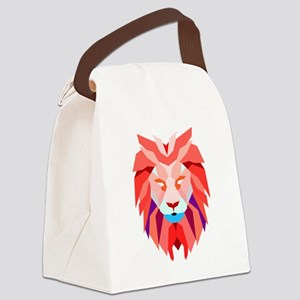 Polygonal Lion Canvas Lunch Bag