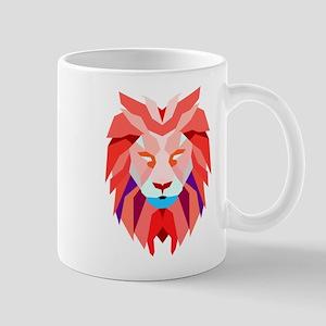 Polygonal Lion Mugs