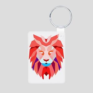 Polygonal Lion Keychains