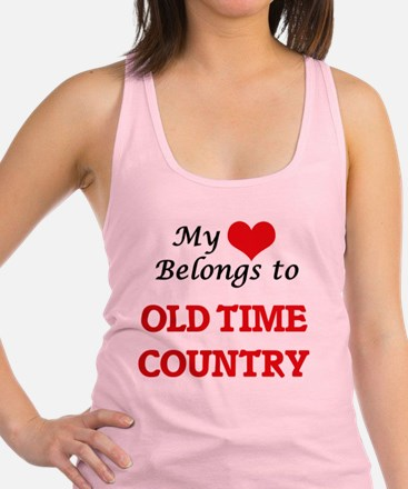 My heart belongs to Old Time Country Tank Top
