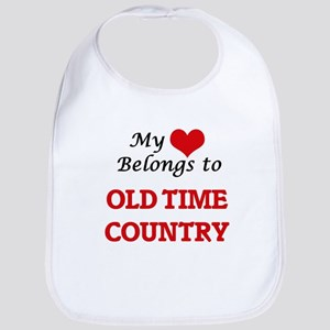 My heart belongs to Old Time Country Baby Bib