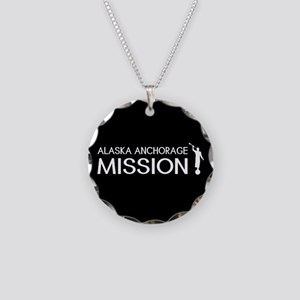 Alaska, Anchorage Mission (M Necklace Circle Charm