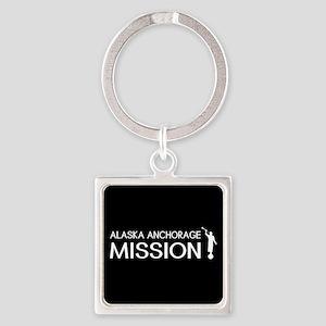 Alaska, Anchorage Mission (Moroni) Square Keychain
