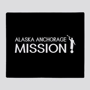 Alaska, Anchorage Mission (Moroni) Throw Blanket