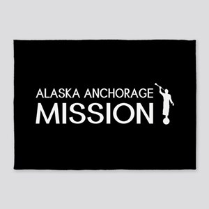 Alaska, Anchorage Mission (Moroni) 5'x7'Area Rug