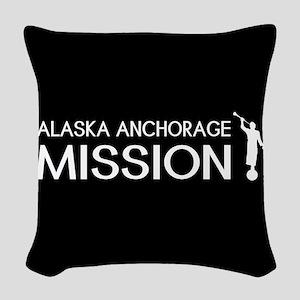 Alaska, Anchorage Mission (Mor Woven Throw Pillow