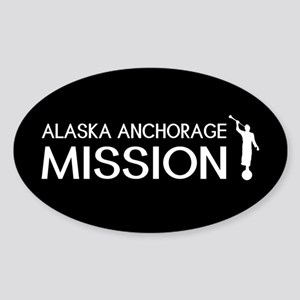 Alaska, Anchorage Mission (Moroni) Sticker (Oval)