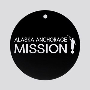 Alaska, Anchorage Mission (Moroni) Round Ornament