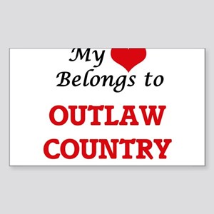 My heart belongs to Outlaw Country Sticker