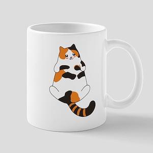 Kawaii Calico Lying Cat Mugs