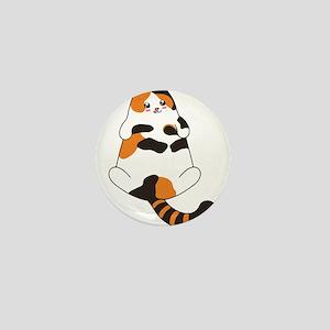 Kawaii Calico Lying Cat Mini Button