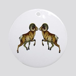 RAMS Round Ornament