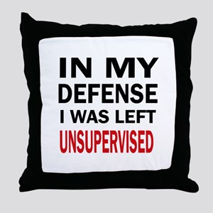 LEFT UNSUPERVISED Throw Pillow