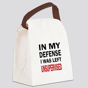 LEFT UNSUPERVISED Canvas Lunch Bag