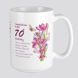 70th Birthday Greeting Gift Mug Mugs