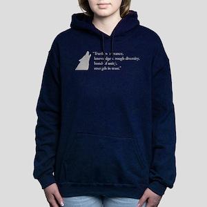 Gamma Rho Lambda Wolf Women's Hooded Sweatshirt