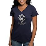 Badge - Leask Women's V-Neck Dark T-Shirt