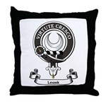 Badge - Leask Throw Pillow