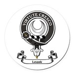 Badge - Leask Round Car Magnet