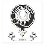 Badge - Leask Square Car Magnet 3